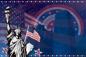 american statue of liberty flyer background