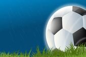 soccer ball in the rain flyer background
