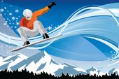 snowboarding flyer background