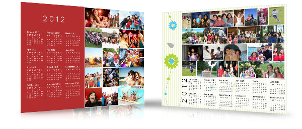 wall calendar with photos sample