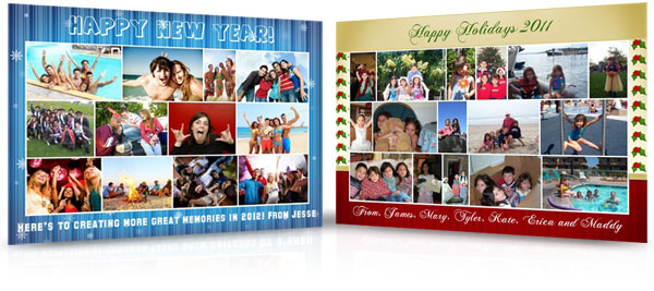 sample holiday photo cards