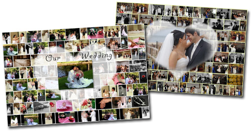 Wedding photo collage idea