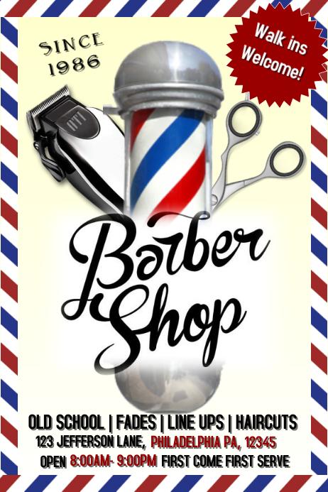 Barbershop Template Postermywall
