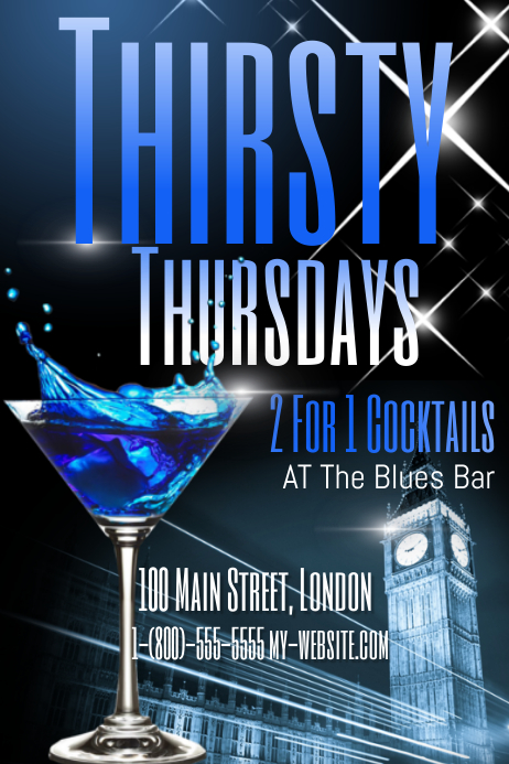 Thirsty Thursday Bar Template | PosterMyWall