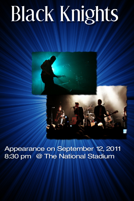 Sample concert flyer