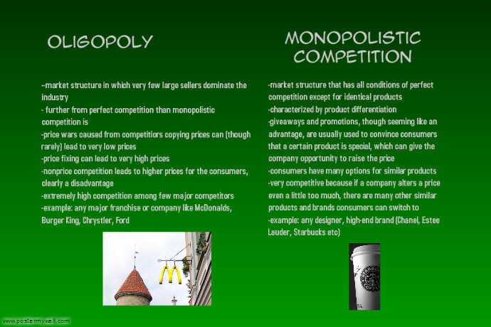 dissertation on monopolistic competition Keywords: perfect competition, monopolistic competition, oligopoly, monopoly introduction monopoly occurs when there is no competition and therefore the supplier has a very high degree of pricing power.