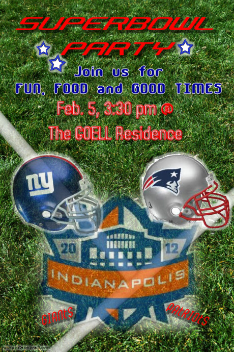 superbowl party flyer