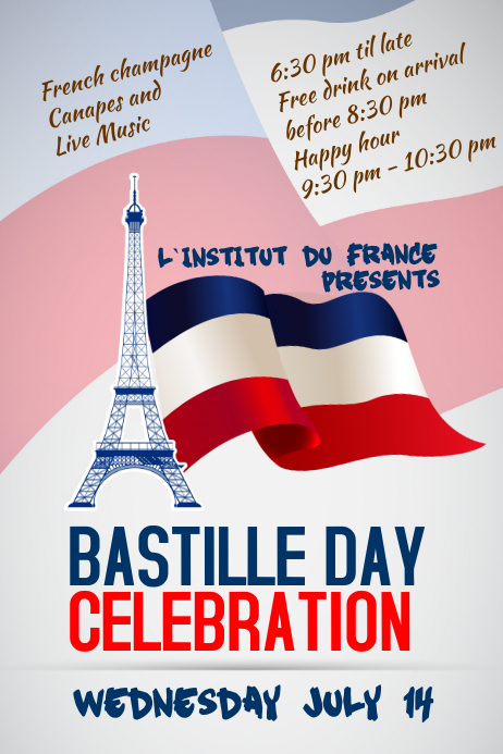 Bastille Day Flyers | PosterMyWall
