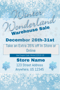 Winter Wonderland Warehouse Sales Event Template