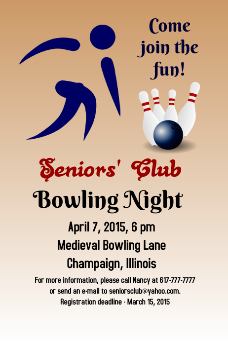 Bowling Poster template | PosterMyWall