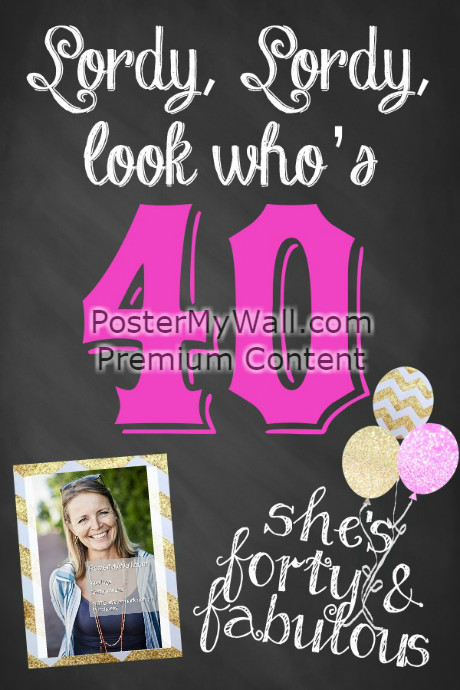40th birthday poster template