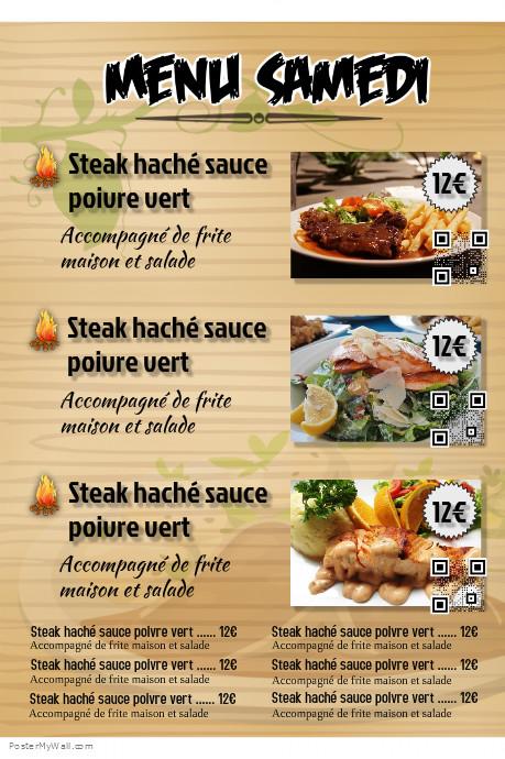 Postermywall mod le de menu pour restaurant et kebab a4 for Poster et affiche