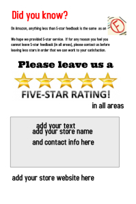 Customizable design templates for feedback postermywall for Ebay feedback request template