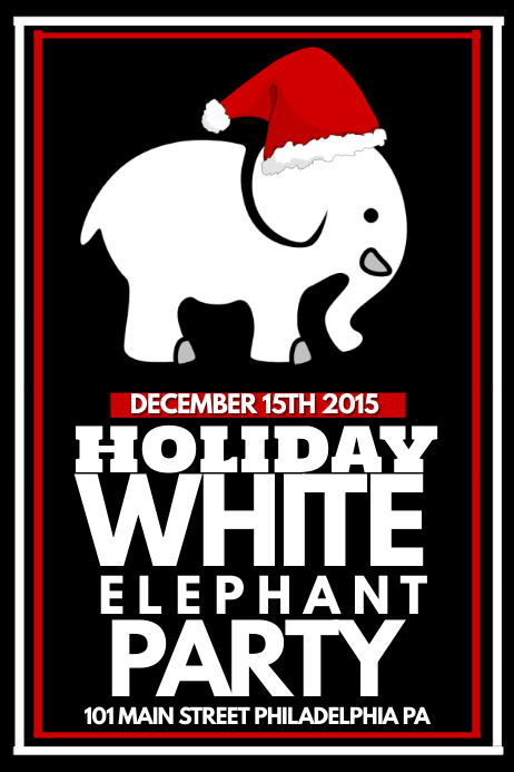 White Elephant Party | PosterMyWall