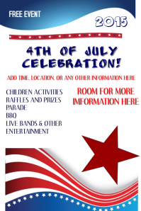 4th-of-july-poster-template-171742ff5b51512bf18cc103db2928dc  Th Of July Newsletter Templates on celebration flyer, stationery free, party invite, office closed sign, black white, fireworks flyer, parade sign, party invitation,