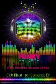 Disco Ball Rainbow Event Night Club Bar DJ Band Music Radio Flyer