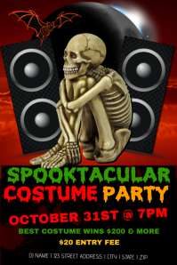 Spooktacular Costume  Party Template
