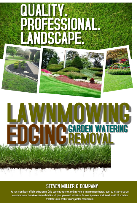 Postermywall lawn service for Lawn care flyer template free