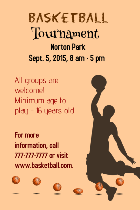 Basketball template postermywall for Basketball tournament program template