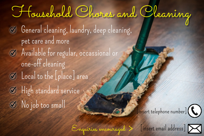 Postermywall Cleaning Service Flyers