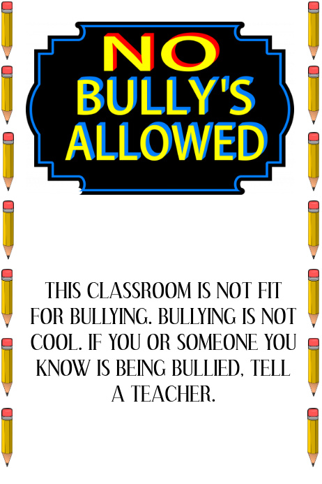 anti bullying template postermywall. Black Bedroom Furniture Sets. Home Design Ideas