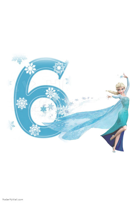 frozen  u0026quot 6th birthday u0026quot  template
