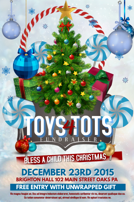Toys For Tots Flyers Editable : Christmas template postermywall