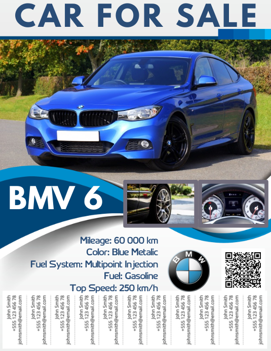 car for sale flyer with tabs template postermywall