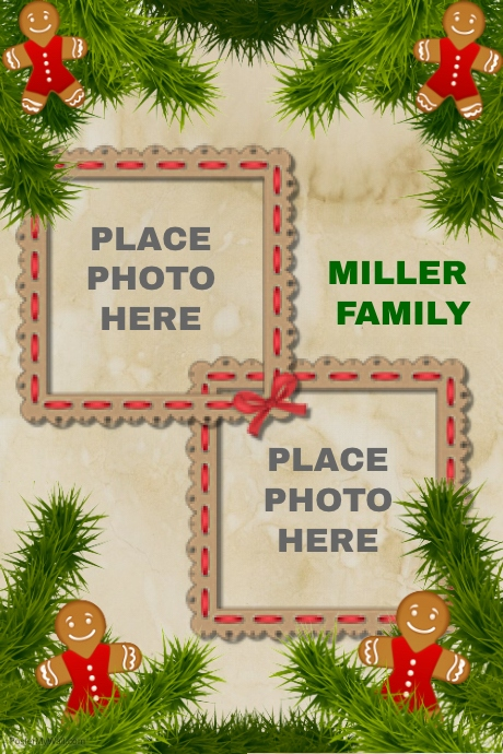 christmas photo collage templates