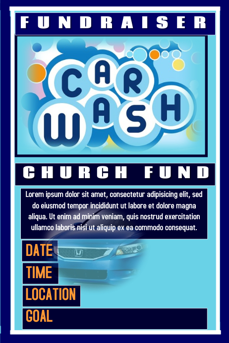 car wash poster template free - postermywall car wash flyers