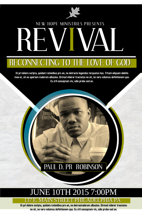 revival flyers templates