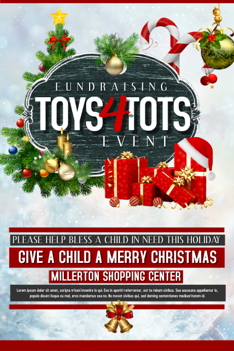 Toys For Tots Raffle : Fundraiser template postermywall