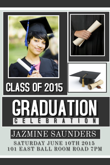 Postermywall graduation for Senior photo collage templates