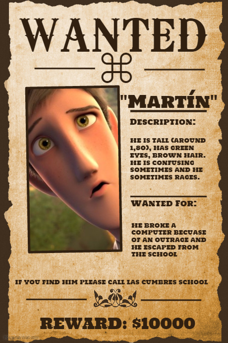 My Wanted Poster Martin