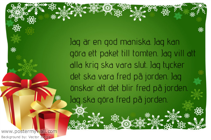 dikt jul