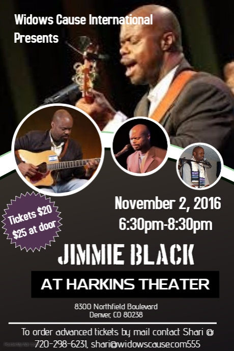 Widows Cause International Presents Jimmie Black