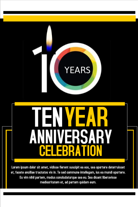 Anniversary flyer template postermywall