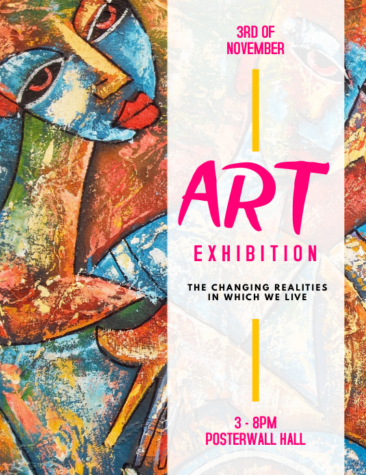 Art exhibition flyer template postermywall for Art brochure templates free