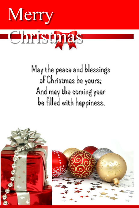 christmas greetings template postermywall