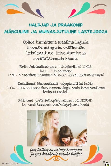Mänguline ja muinasjutuline lastejooga Tallinnas!