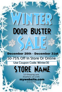 Winter Door Buster Sales Event Template