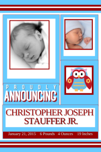 Sample Baby Announcement