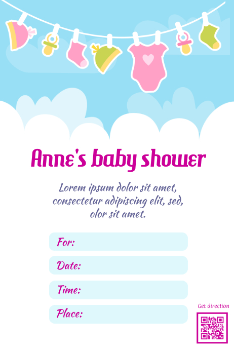 baby shower flyer postermywall template postermywall
