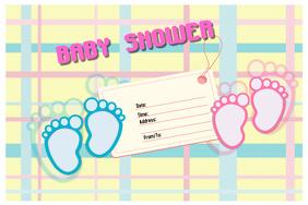 customizable design templates for baby shower girl