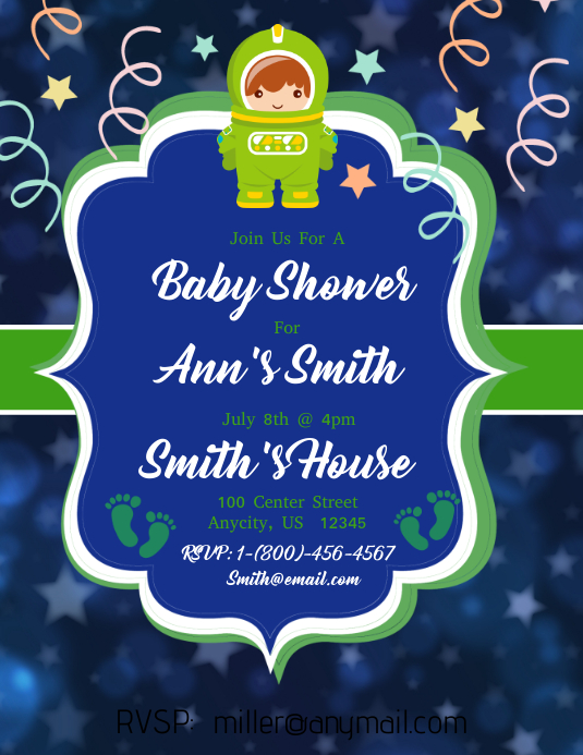 baby shower template postermywall