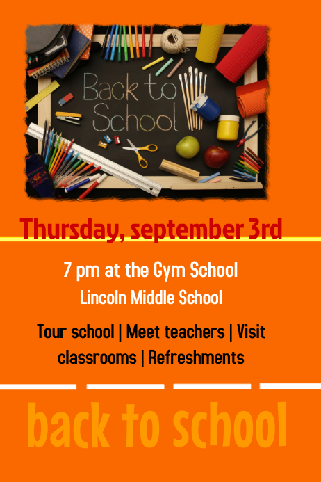 Back to school template : PosterMyWall