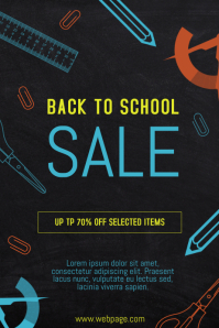 back to school sale retail promotion poster template