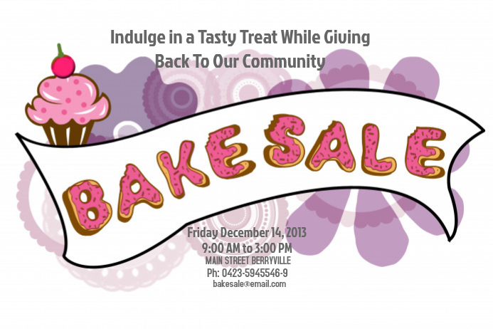 Bake Sale Flyer Template by Jaffer Haider