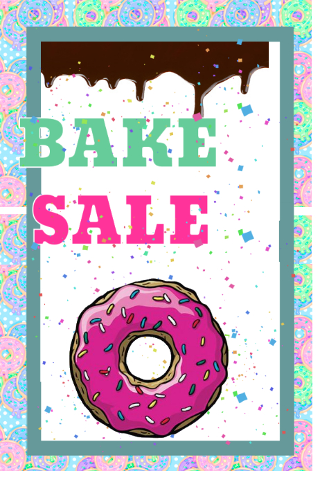 Bake sale template postermywall for Poster prints for sale