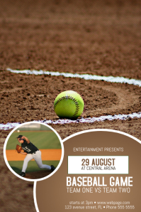 baseball game poster flyer template
